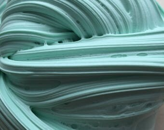 8oz Fresh Mint Non-deflatable Fluffy slime