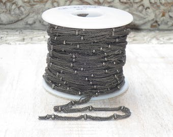 5 Strand and Ball Chain Matte Gun Metal Chain