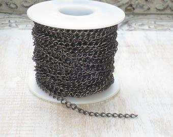 Small Curb Chain in Matte Gunmetal