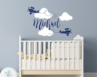 Nursery Wall Decals Etsy - Baby boy nursery wall decals