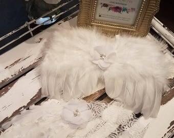 SALE!!! White Newborn Angel Wings & Headband, Feather Wings, Photo Prop - SALE 40% OFF