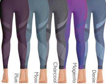 Linear Sculpture Leggings / Womens Leggings / Leggings / Printed Leggings / Yoga Leggings / Yoga Pants /Workout Leggings / Sports Leggings