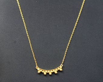 18k Gold Plated Necklace in 925 Sterling Silver length 17 inch