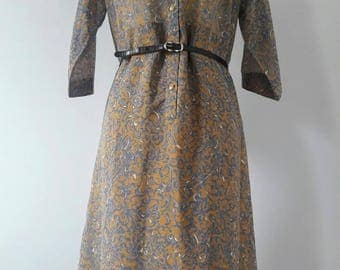 1970s Vintage Day Dress from Japan