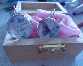 "cabochon earrings ""I want also"""