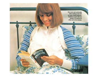 Striped Shrug Knitting Pattern - Arm warmer, Bed jacker, bolero