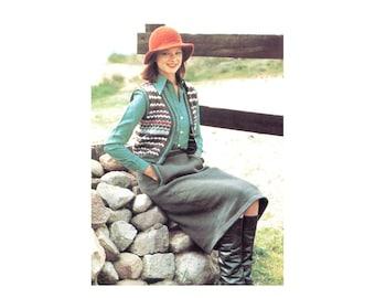 Skirt & Vest Knitting Pattern