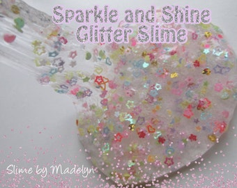 Sparkle and Glitter clear slime ~ Glitter Slime ~ Clear Slime ~ Sparkle slime