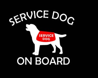 Service Dog or Therapy Dog Car Decal / Sticker