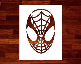 Spiderman stencil   Etsy