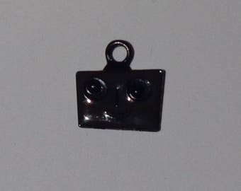 Square head metal charm