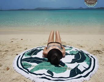 Summer Color - Round Beach Towel