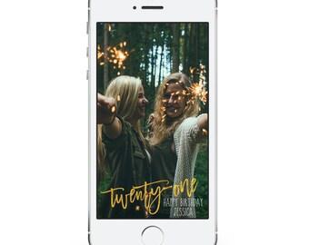 Gold Snapchat Filter Birthday - Snapchat Filter - Birthday Geofilter - Birthday Filter - Custom Snapchat Geofilter - Gold Birthday