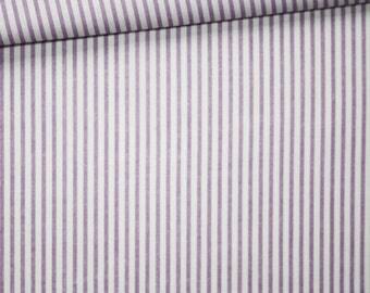 Stripes, 100% cotton fabric printed 50 x 160 cm, purple and white stripes pattern