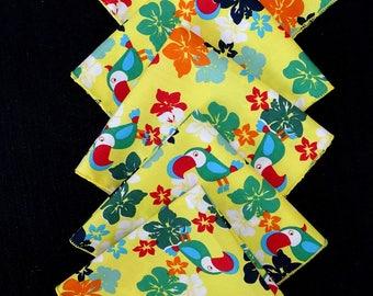 "Set of 5 handkerchiefs ""Yellow parrot"""