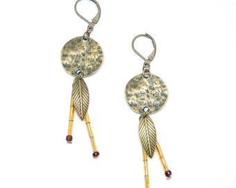 Shaman - Ethnic jewelry in bronze and golden yellow beads