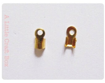 End caps, 2.4x3mm strings 40 - color gold