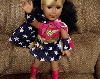 Wonder Woman Outfit for your 18 Inch Doll