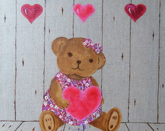 Custom creation * Liberty bear * canvas for children