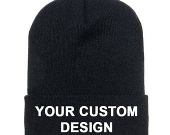 Customized Beanie  / Classic Cuff Beanie / Gym Apparel / Embroidered Cap / Personalized Embroidery / Your Custom Apparel / Baseball Cap