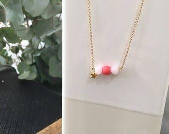 Laurette pink necklace