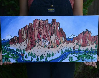 Smith Rock Bend OR Original Art Print