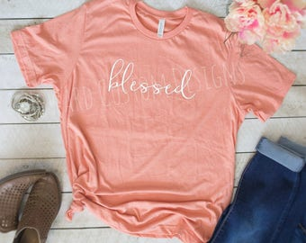 Blessed T-Shirt | Blessed Boutique Tee | Bella+Canvas Shirt | Southern Boutique Shirt