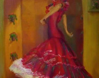 Repro Flamenco Dancer