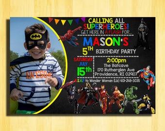 Superhero Birthday Invitation, Superhero Birthday Party, Superhero Party Invitation,Super Hero Birthday Invitation,Super Hero Birthday Party