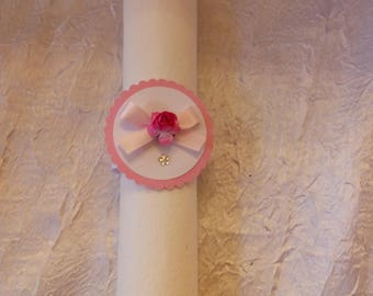 10 fuchsia flower napkin ring