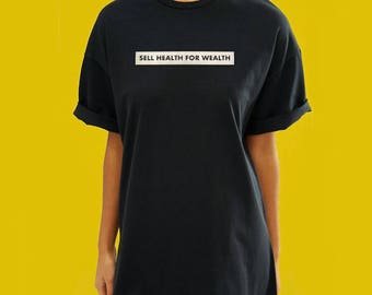 Sell Health For Wealth - Removable Clothing & Fabric Sticker