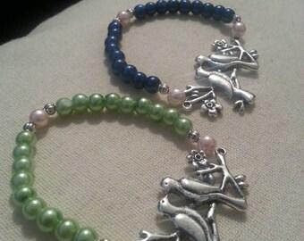 Spring love birds bracelet
