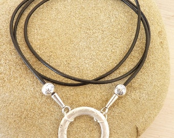 LANYARD GLASSES/spectacles and leather necklace