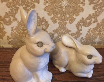Vintage Pair of Plastic Rabbit Banks