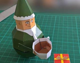 Paper Elf Model DIY Paper Craft