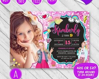 JoJo Siwa birthday, JoJo Siwa Invitation with photo, JoJo Siwa Birthday Invitation, JoJo Siwa invite, JoJo Siwa party, JoJo Siwa bow, Card