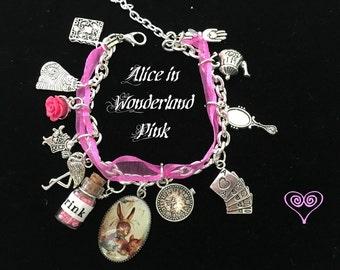 Fuscha Alice in Wonderland Charm Bracelet
