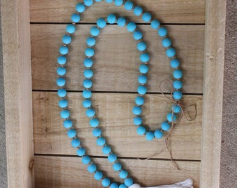 Knotted Turquoise Tassel