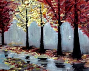 Acrylic painting | Handmade | Wall Hanging | Wall Art | Home Decoration | Nature | Trees | Gift | Present