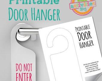 Printable Door Hanger Craft Activity Worksheet
