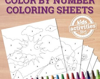 Printable Color By Number Coloring Pages Preschool Worksheets