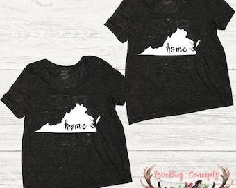 Virginia Home T-shirt - Shape of Virginia