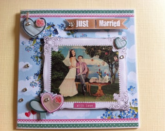 "Card 3D ""just married"""
