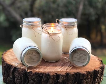 ROSE VICTORIAN Mason Jar Soy Candle 16oz.