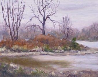 Plein Air Original Oil painting on Canvas Board 8x10