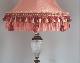 TRADITIONAL STYLE Lampshade, handmade, fabric, unique, large