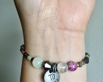 Virgo Elastic Beaded Bracelet WOMENS Beaded Zodiac Bracelet