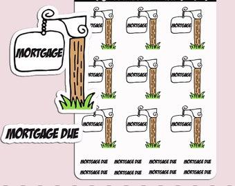 MORTGAGE REMINDER | Planner Stickers | Bills | House | Payment | Erin Condren | S200
