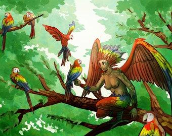 Scarlet Macaw Harpy