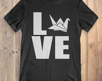 Origami T-Shirt Gift: Love Origami